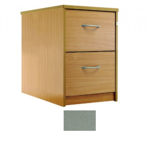 Sunflower Medical Silver Two-Drawer Filing Cabinet