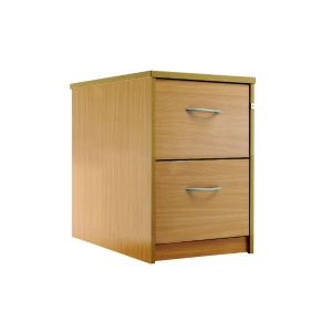 Sunflower Medical Beech Two-Drawer Filing Cabinet
