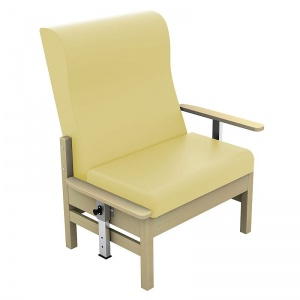 Sunflower Medical Atlas Beige High-Back Vinyl Bariatric Patient Armchair with Drop Arms