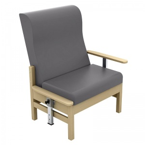 Sunflower Medical Atlas Grey High-Back Intervene Bariatric Patient Armchair with Drop Arms