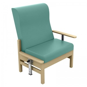 Sunflower Medical Atlas Mint High-Back Vinyl Bariatric Patient Armchair with Drop Arms