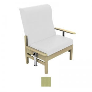 Sunflower Medical Atlas Pastel Green High-Back Intervene Bariatric Patient Armchair with Drop Arms