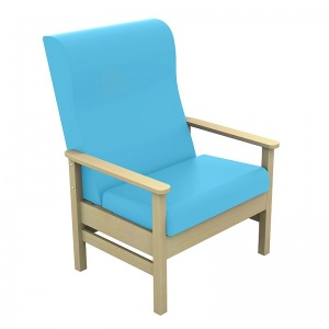 Sunflower Medical Atlas Sky Blue High-Back Intervene Bariatric Patient Armchair