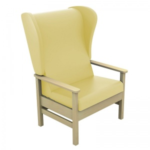 Sunflower Medical Atlas Beige High-Back Intervene Bariatric Patient Armchair with Wings