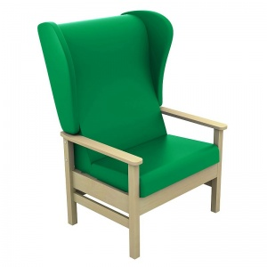 Sunflower Medical Atlas Green High-Back Intervene Bariatric Patient Armchair with Wings