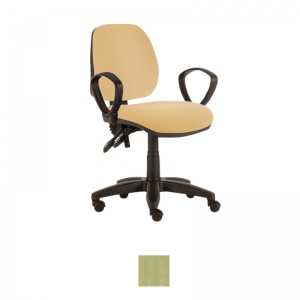 Sunflower Medical Pastel Green Mid-Back Twin-Lever Extreme Plus Consultation Chair with Armrests and Black Base