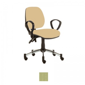 Sunflower Medical Pastel Green Mid-Back Twin-Lever Extreme Plus Consultation Chair with Armrests and Chrome Base