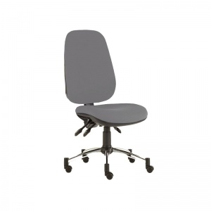 Sunflower Medical Grey Deluxe Executive High-Back Three-Lever Intervene Consultation Chair with Chrome Base