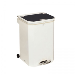 Sunflower Medical 50 Litre Clinical Hospital Waste Bin with Black Lid for Domestic Waste