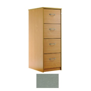 Sunflower Medical Silver Four-Drawer Filing Cabinet