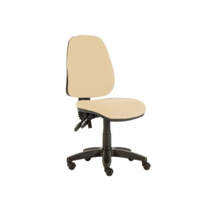 Sunflower Medical Beige High-Back Twin-Lever Extreme Plus Consultation Chair with Black Base