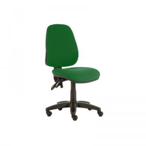Sunflower Medical Green High-Back Twin-Lever Vinyl Consultation Chair with Black Base