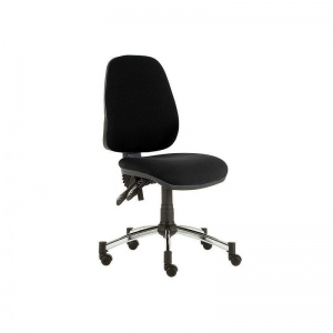 Sunflower Medical Black High-Back Twin-Lever Intervene Consultation Chair with Chrome Base