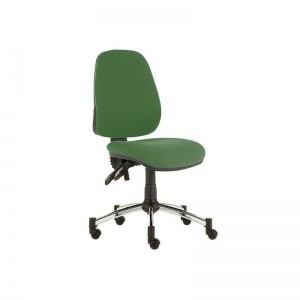 Sunflower Medical Green High-Back Twin-Lever Extreme Plus Consultation Chair with Chrome Base