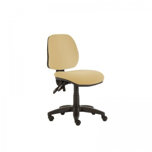 Sunflower Medical Beige Mid-Back Twin-Lever Intervene Consultation Chair with Black Base