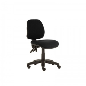 Sunflower Medical Black Mid-Back Twin-Lever Extreme Plus Consultation Chair with Black Base