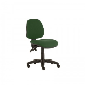 Sunflower Medical Green Mid-Back Twin-Lever Vinyl Consultation Chair with Black Base