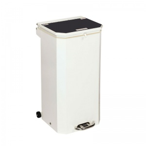 Sunflower Medical 70 Litre Clinical Hospital Waste Bin with Black Lid for Domestic Waste