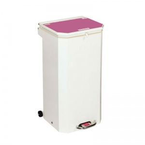 Sunflower Medical 70 Litre Clinical Hospital Waste Bin with Purple Lid for Cytotoxic and Cytostatic Waste
