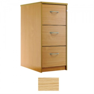 Sunflower Medical Japanese Ash Three-Drawer Filing Cabinet