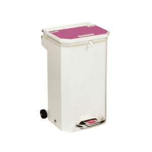 Sunflower Medical 20 Litre Clinical Hospital Waste Bin with Purple Lid for Cytotoxic and Cytostatic Waste