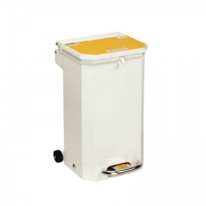 Sunflower Medical 20 Litre Clinical Hospital Waste Bin with Yellow Lid for Incineration