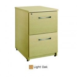 Sunflower Medical Light Oak Two Drawer Under Desk Pedestal