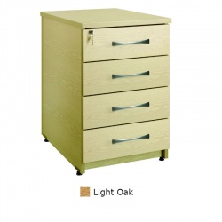 Sunflower Medical Light Oak Four Drawer Under Desk Pedestal
