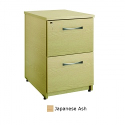 Sunflower Medical Japanese Ash Two Drawer Under Desk Pedestal
