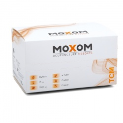 MOXOM TCM Silicone Coated Acupuncture Needles (Bulk Pack of 1000)