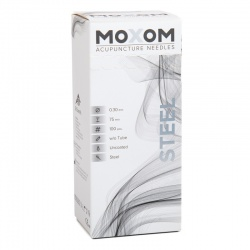 MOXOM Steel Uncoated Acupuncture Needles (Pack of 100)
