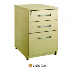 Sunflower Medical Light Oak Three Drawer Under Desk Pedestal