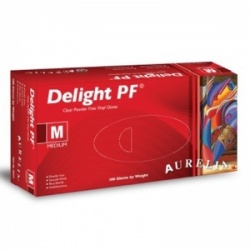 Aurelia Delight Powder Free Medical Grade Vinyl Gloves