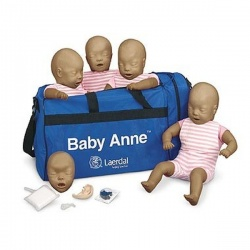 Laerdal Baby Anne CPR Mannequins with Dark Skin (Pack of 4)