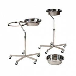 Bristol Maid Stainless Steel Variable Height Two Bowl Stand