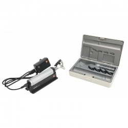 HEINE BETA 400 LED F.O. Otoscope Set with USB Cord and Plug-In Power Supply
