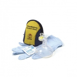 Laerdal Paediatric Pocket Mask with Gloves, Wipe and Blue/Yellow Soft Pack