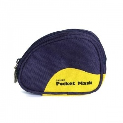 Laerdal Pocket Mask with Oxygen Inlet and Soft Blue Pouch