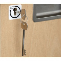 Additional Door Key for the Sunflower Medical Drug Administration Trolleys