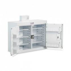 Bristol Maid 1000 x 300 x 600mm Double-Door Drug and Medicine Cabinet with 6 Narrow Shelves and 6 Door Shelves