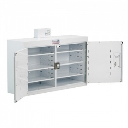 Bristol Maid 1000 x 300 x 600mm Double-Door Drug and Medicine Cabinet with 6 Full Shelves, 58 NOMAD Capacity and Dual Locking Doors