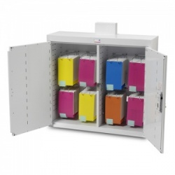 Bristol Maid 1000 x 300 x 900mm Double-Door Drug and Medicine Cabinet with Light and MDS Capacity of 8 Frames