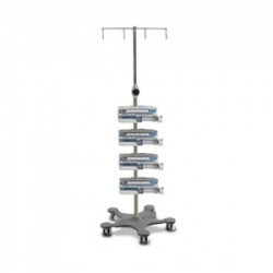 Bristol Maid Standard-Capacity Four-Hook Infusion Pump Stand