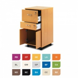 Bristol Maid Two-Tone Bedside Cabinet (Cupboard and Two Lockable Drawers)