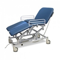 Bristol Maid Electric Four-Section Mobile Bariatric Treatment and Examination Couch with Foot Switch
