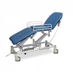 Bristol Maid Electric Four-Section Mobile Treatment and Examination Couch with Foot Switch