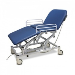 Bristol Maid Electric Three-Section Mobile Bariatric Treatment and Examination Couch with Hand Switch