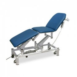 Bristol Maid Electric Three-Section Treatment and Examination Couch with Foot Switch
