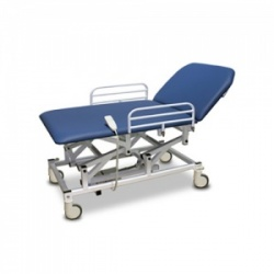 Bristol Maid Electric Two-Section Mobile Bariatric Treatment and Examination Couch with Foot Switch