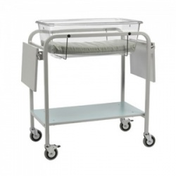 Bristol Maid Cot - Fixed-Height Baby Crib with Lower Shelf